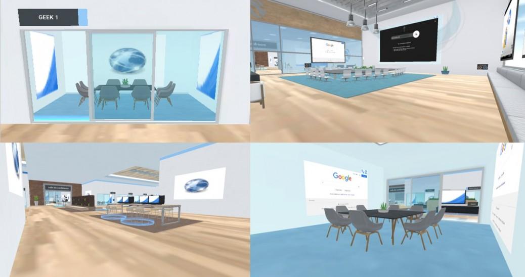 Utilisation d'un logiciel de réalité virtuelle à l'Espace Entreprise